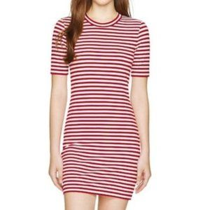 Aritzia Sunday Best Miller Striped T-Shirt Dress